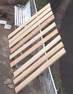 2×4材で白い本棚作り302