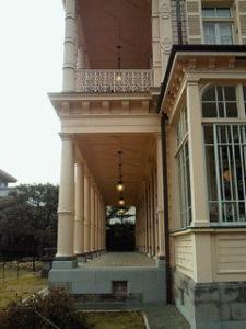 旧岩崎邸 テラス ライト