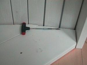 2×4材で白い本棚作10