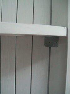 2×4材で白い本棚作り13