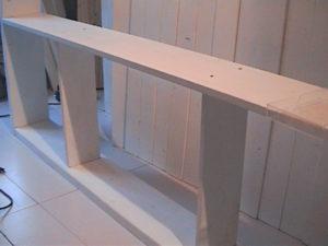 2×4材で白い本棚作り307