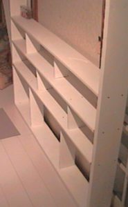 2×4材で白い本棚作り309