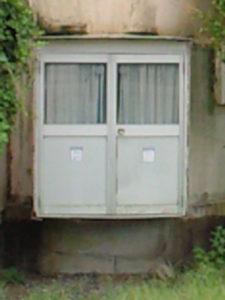 球形住宅 ドア